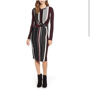 Socialite Wrap Front Midi Dress S